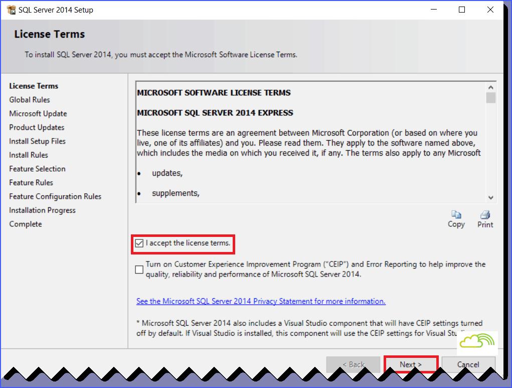 install sql server 2014 service pack 1