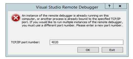 SharePoint custom application remote debugging in Visual Studio