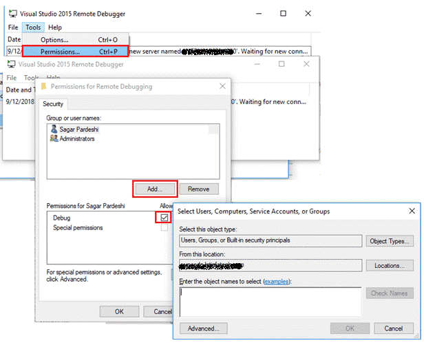 remote debugging sharepoint 2019 solutions