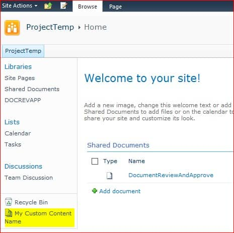 sharepoint 2010 Change name of All site content using javascript