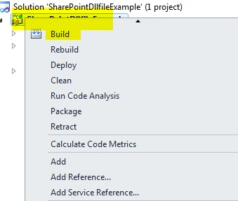 how to Create dll using Visual Studio 2010 sharepoint 2010
