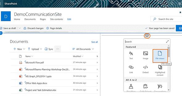 sharepoint modern file viewer web part