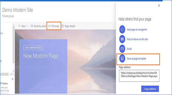 sharepoint online page templates