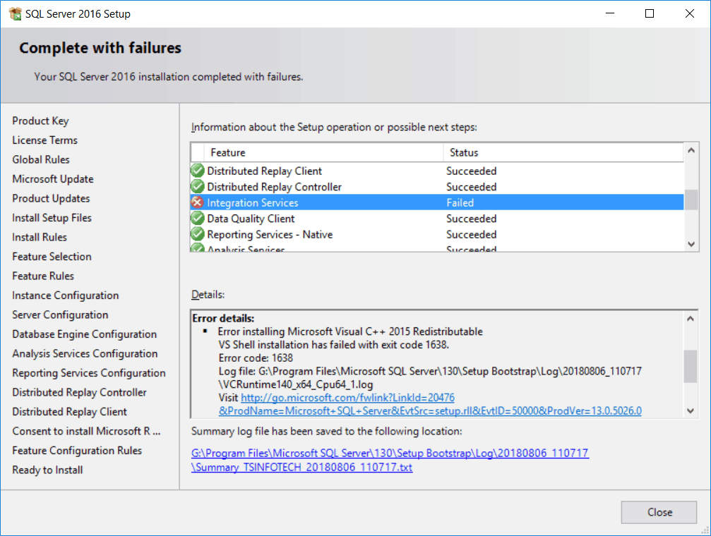 sql server 2016 installation step by step