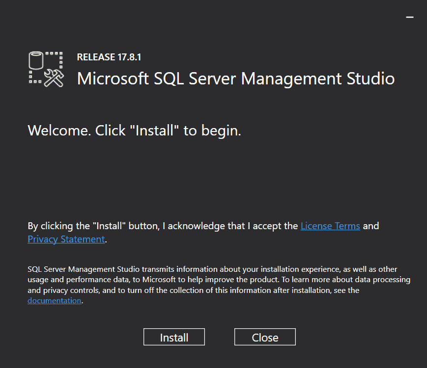 sql server management studio 2017