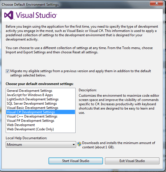 how to install visual studio 2012