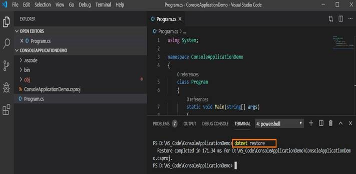 visual studio code compile c#