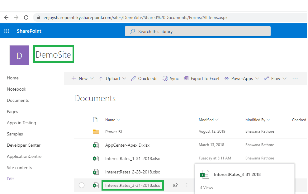 How to Connect to a Specific file from SharePoint to Power BI