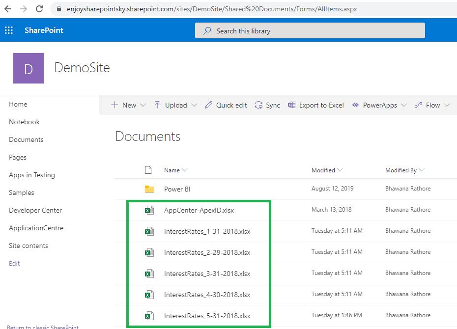 power bi combine multiple files from SharePoint folder