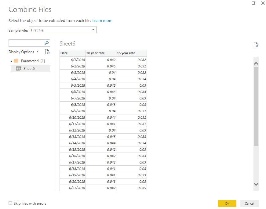 combine multiple files from SharePoint folder power bi