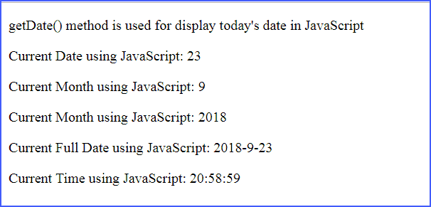 Retrieve Today's Date in JavaScript