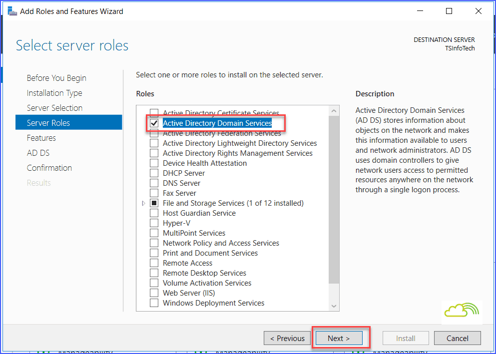 How to install an Active Directory Domain Controller