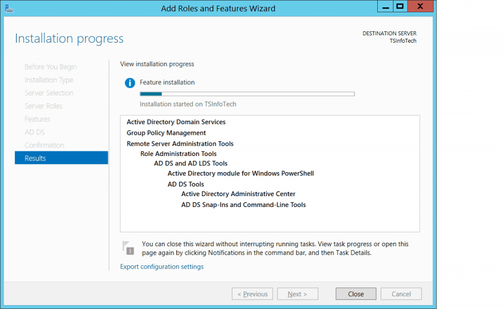 how to configure domain controller in windows 2012 server