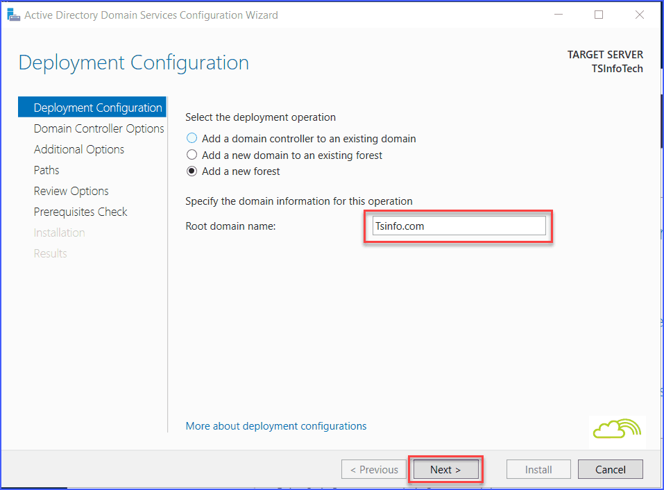 configure active directory domain services windows server 2016 step by step tutorial