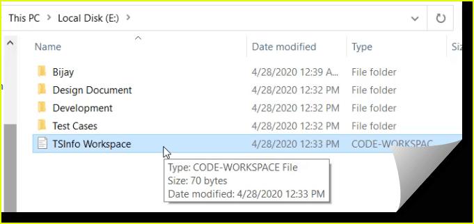 create vs code workspace