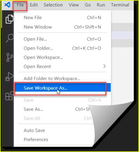 create workspace vs code