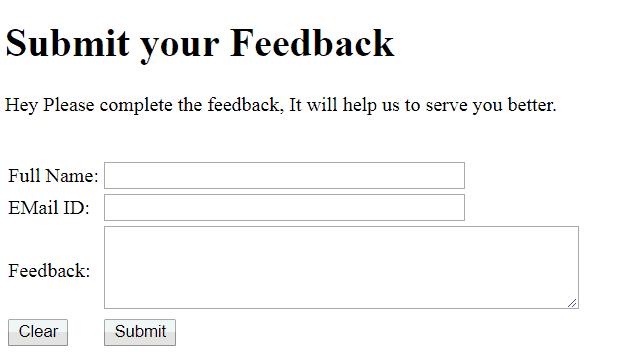 design HTML form