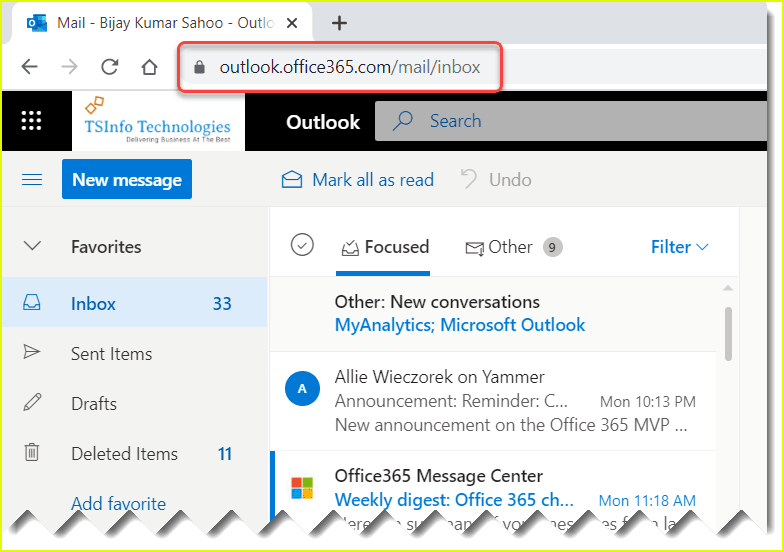 how to access outlook 365 webmail