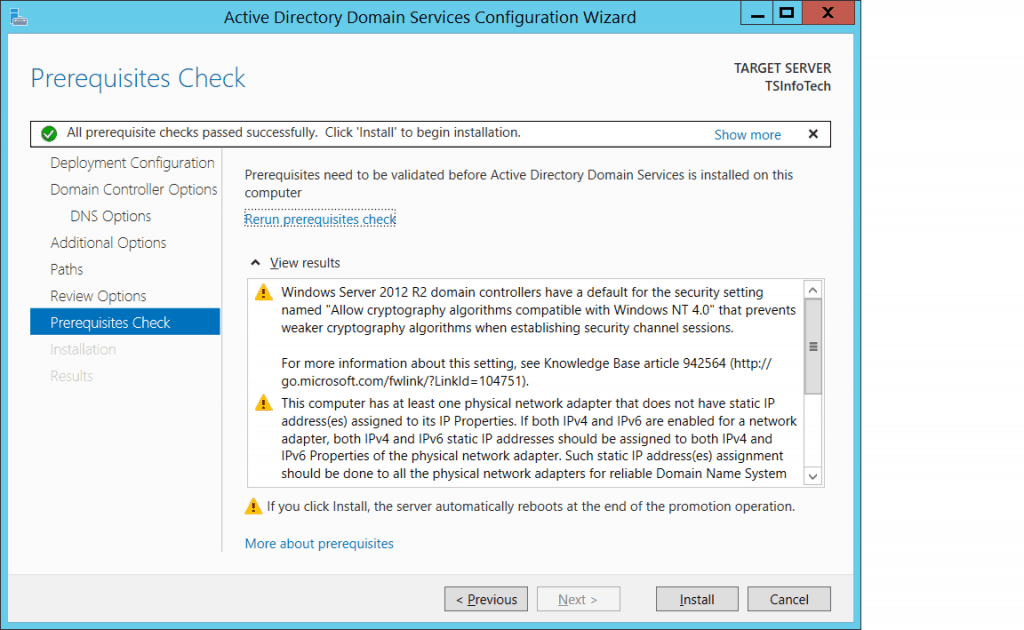 how to install active directory in windows server 2012 r2 standard