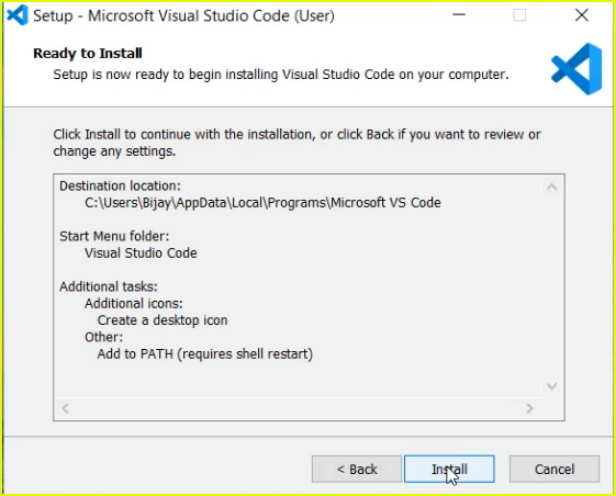 how to install visual studio code