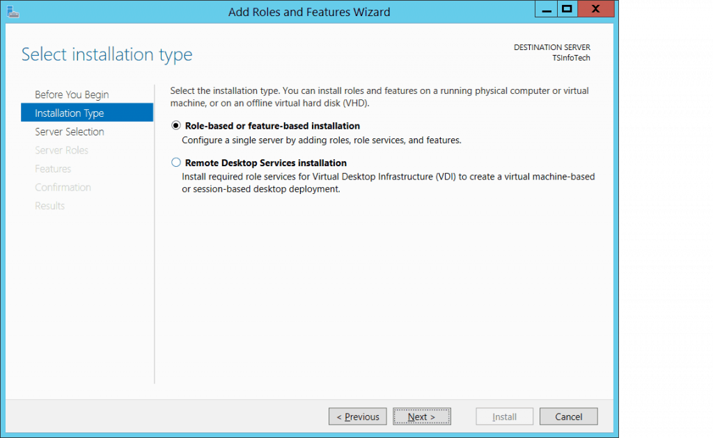 install and configure active directory domain controller