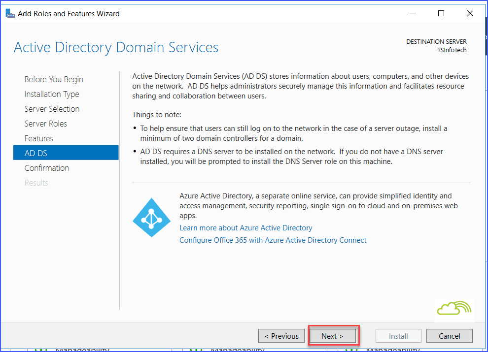 how to setup active directory on windows server 2016