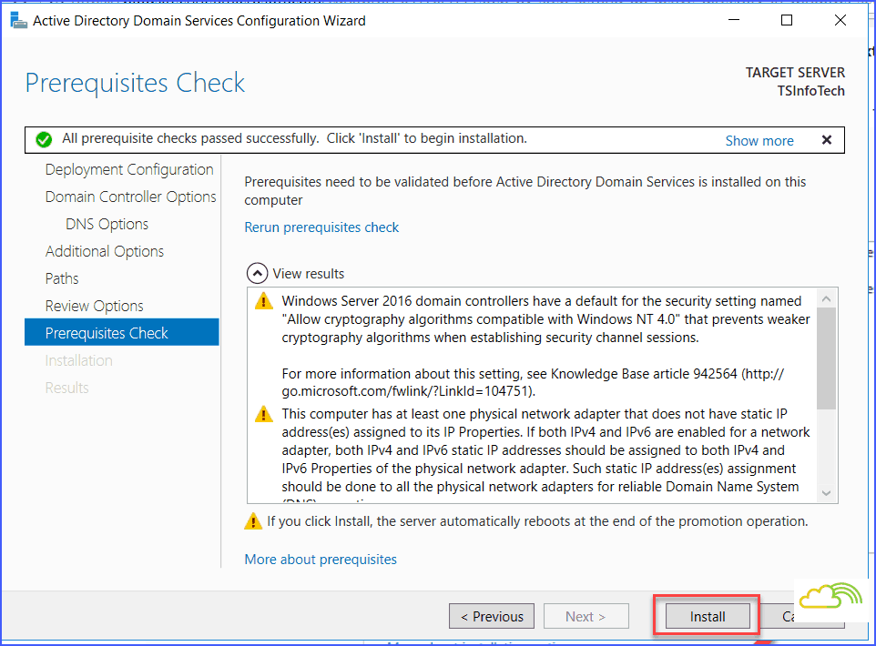 windows server 2016 Install and configure active directory and domain controller