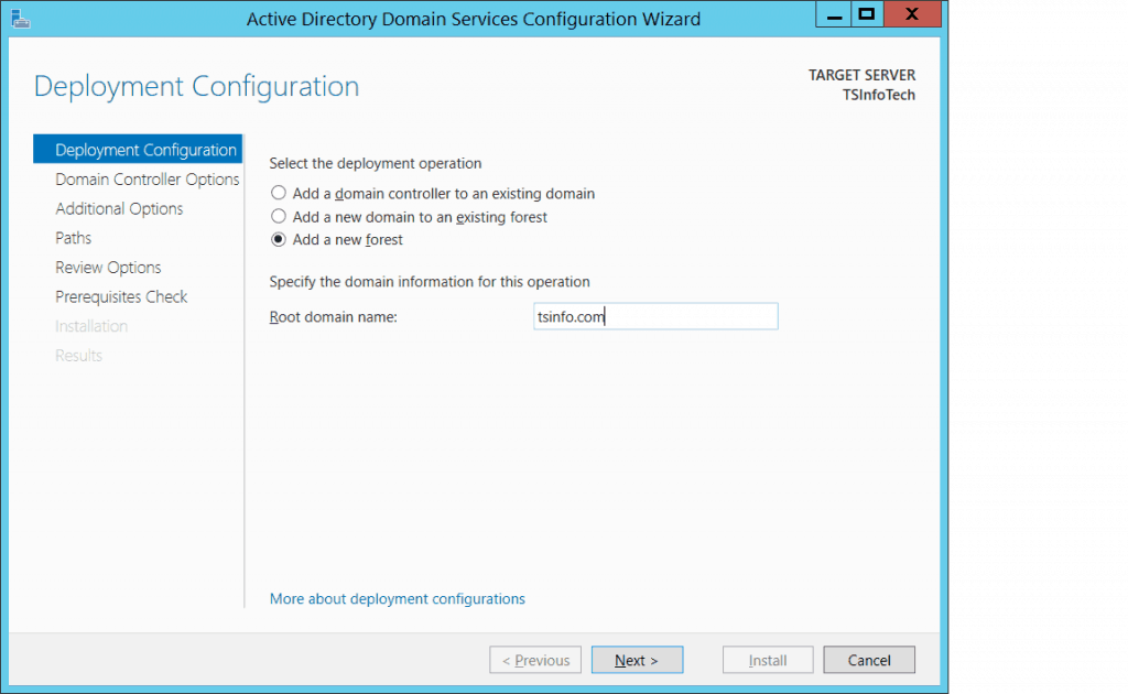 configure active directory domain services windows server 2012 r2