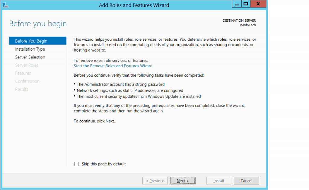 install and configure windows 2012 r2 active directory and domain controller