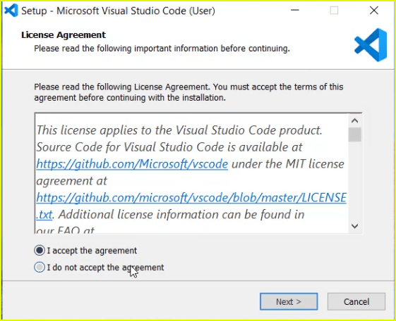 install visual studio code