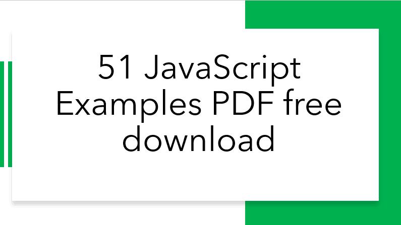 javascript examples pdf