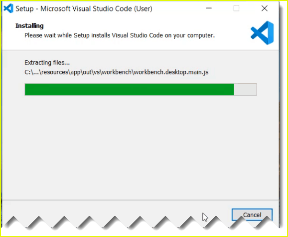 visual studio code installation