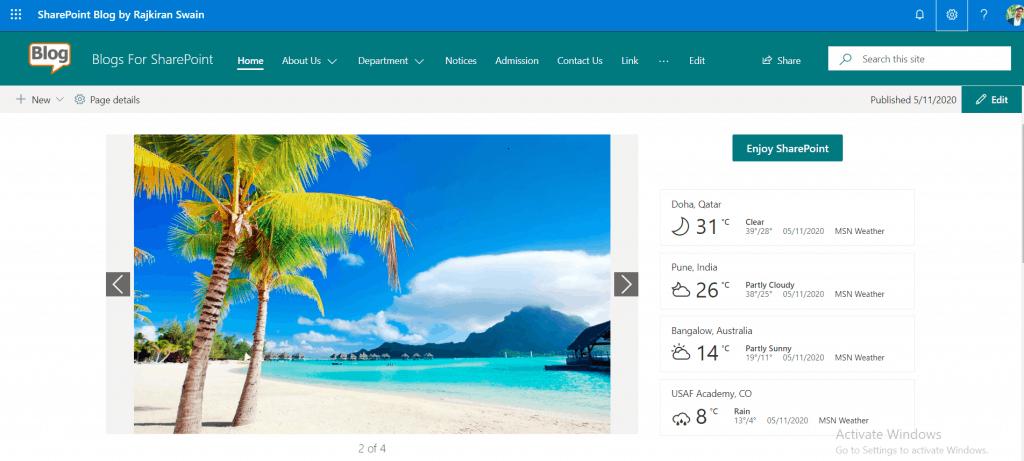 SharePoint Online mega menu