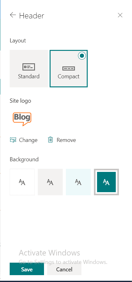 Change Header in SharePoint Online Site