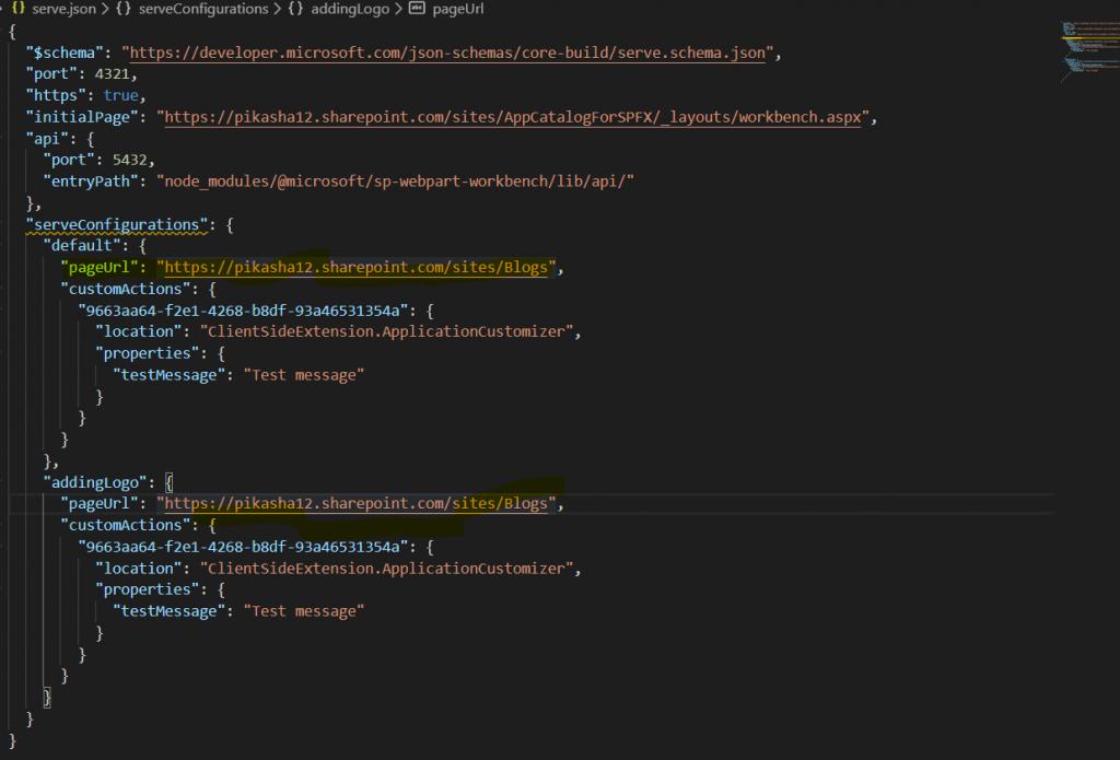 Create SPFx application customizer