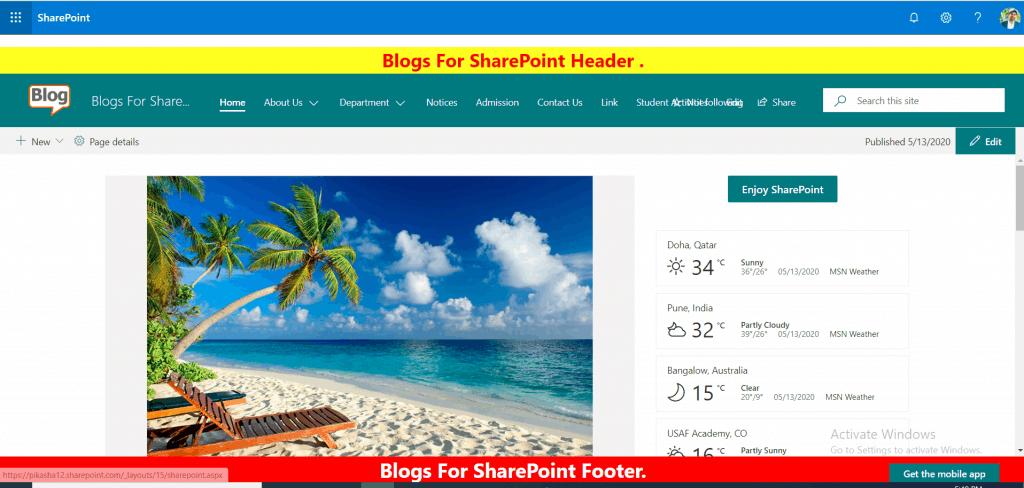 sharepoint framework application customizers