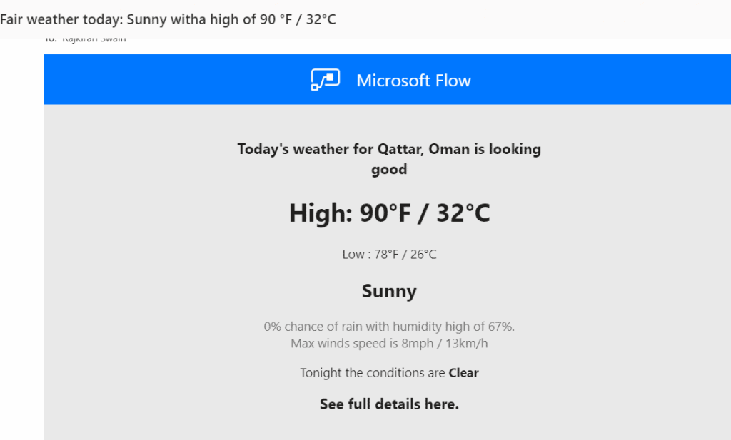 Get daily weather reports delivered to your email and phone