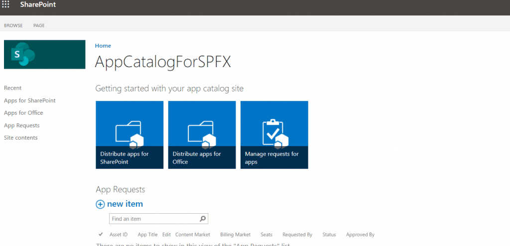 how to create an app catalog site sharepoint online