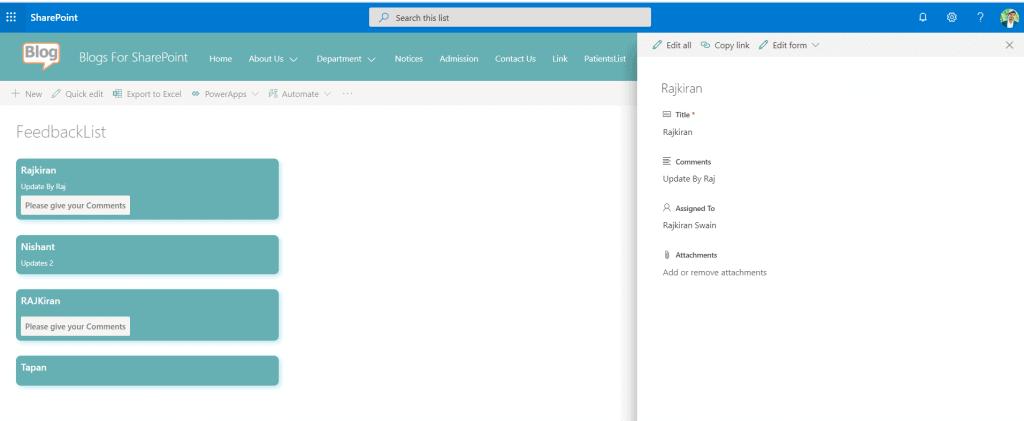 SharePoint Online modern list view customization using JSON