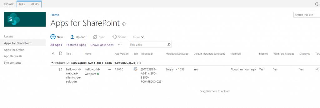 sharepoint online create an app catalog site