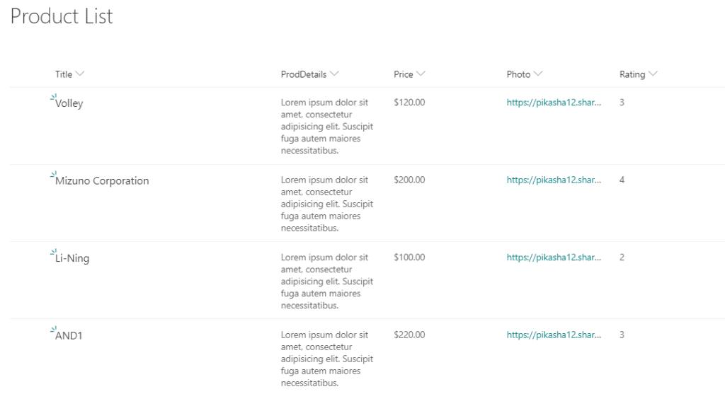 sharepoint online modern list view customization