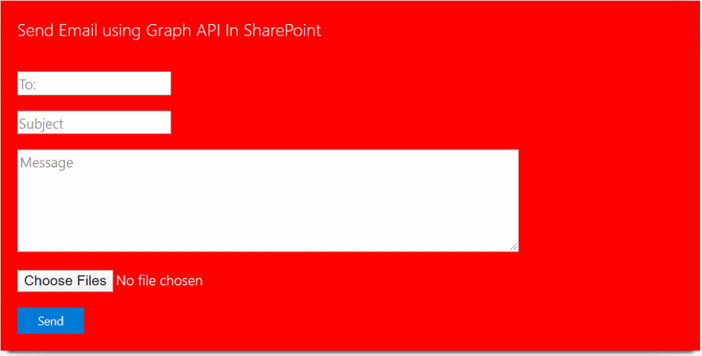 send an email with attachments using Graph API in the SPFx web part