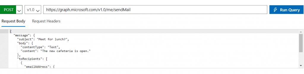 how to send email using graph api spfx