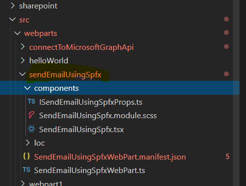 spfx graph api send email