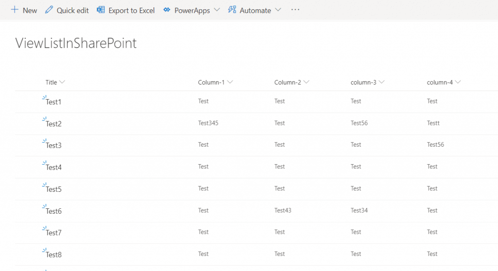 How to display SharePoint list items in a table using SPFX