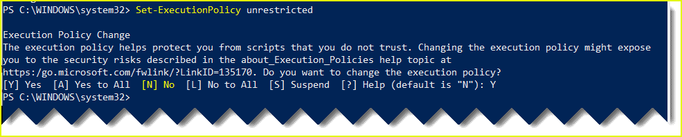 Cannot execute PowerShell script not digitally signed