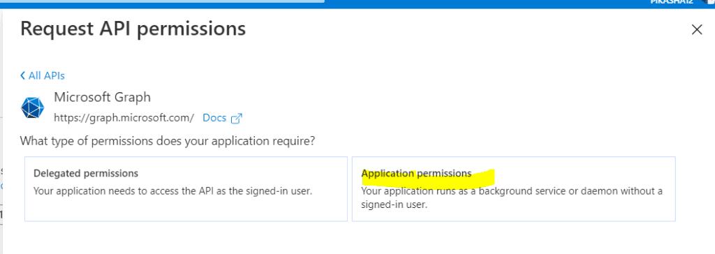 request api permission microsoft azure