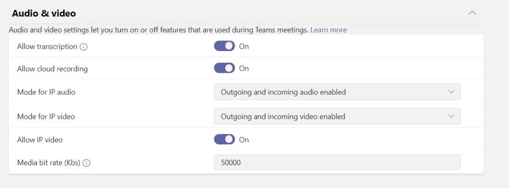 Add new meeting policies microsoft teams