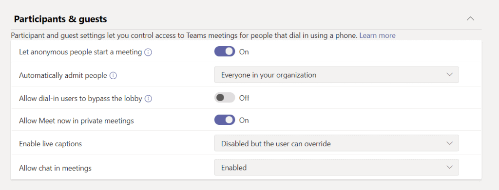 microsoft teams Add new meeting policies