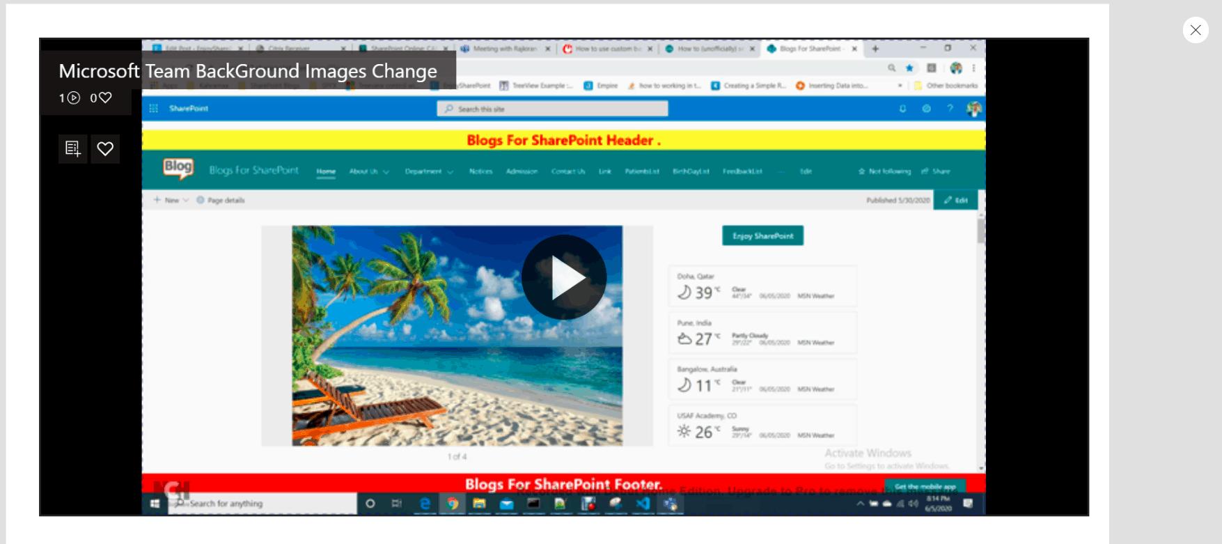 Play Microsoft stream Videos in Power Apps